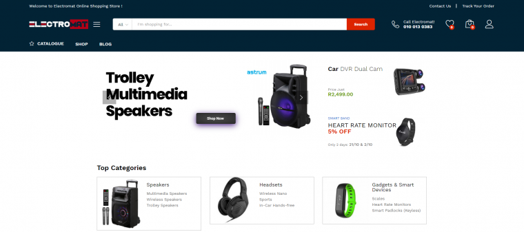 Electromat Web Design Project – eCommerce