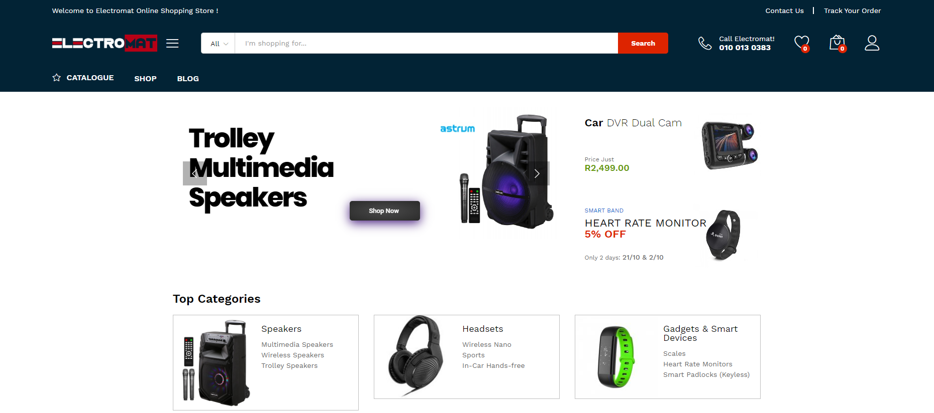 Electromat Web Design Project eCommerce Store