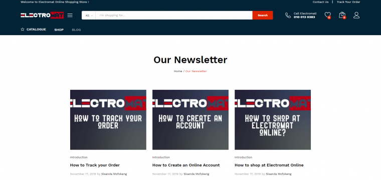 The Electromat Website – Web Design Tour