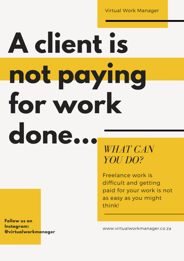 A client is not paying for work done
